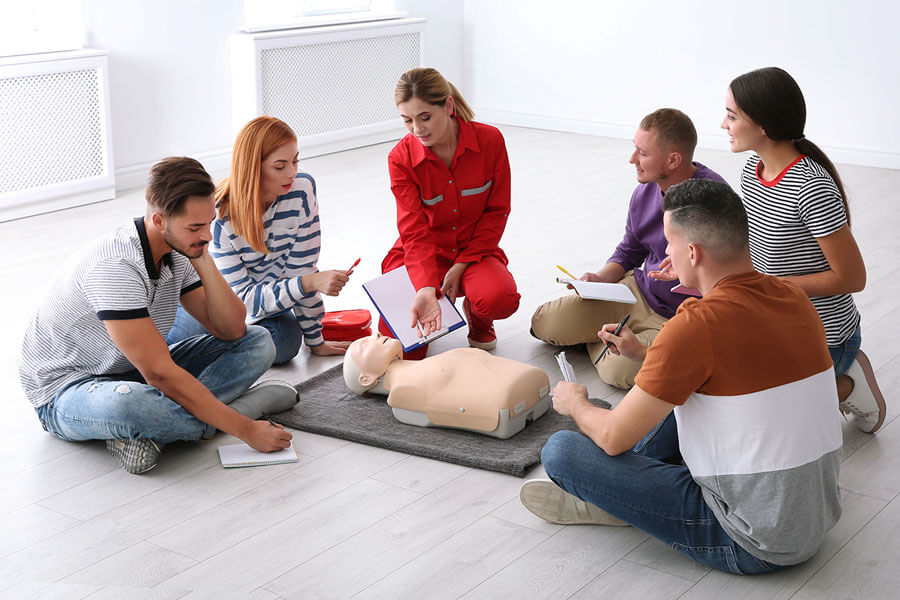 Students and Instructor Learning CPR
